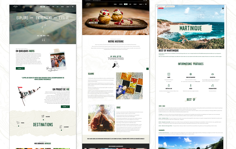 Création blog voyage sur Wordpress