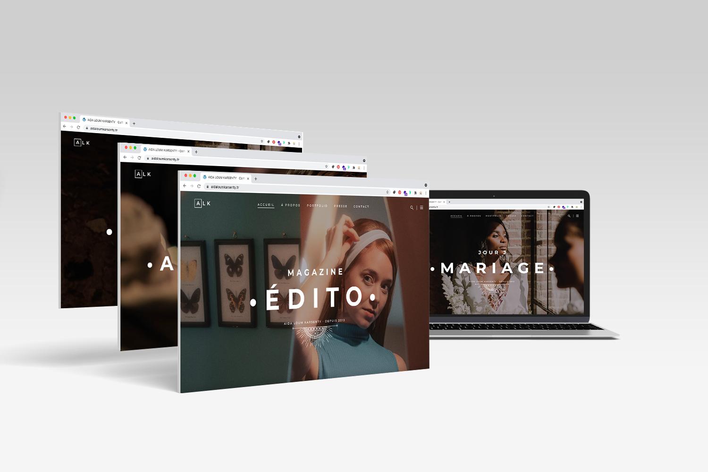 Site vitrine Coiffeuse Studio